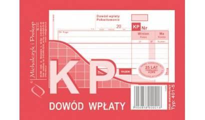 Druk KP Dowód wpłaty A6 wielokopia 401-5 Michalczyk i Prokop