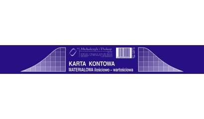 Druk Karta kontowa materiałowo-ilościowa A5 437-3 (20ark) Michalczyk i Prokop