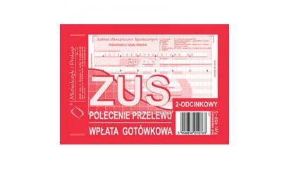 Druk Polecenie przelewu ZUS 2-odc. A6 450-5 Michalczyk i Prokop