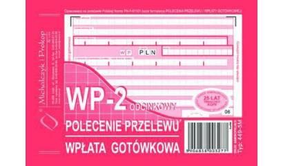 Druk Polecenie przelewu/wpłata got.2-odc. A6 (org.+kopia) 449-5M Michalczyk i Prokop