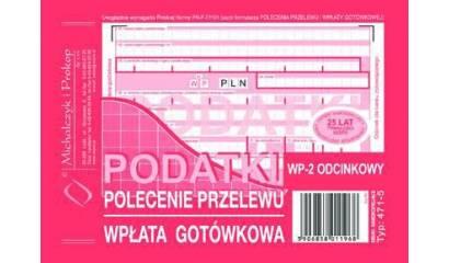 Druk Polecenie przelewu PODATKI 2-odc. A6 (org.+kopia) 471-5 Michalczyk i Prokop
