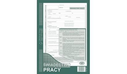 Druk Świadectwo pracy A4 (org.+kopia) 501-1 Michalczyk i Prokop