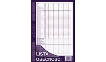 Druk Lista obecności A4 506-1 Michalczyk i Prokop