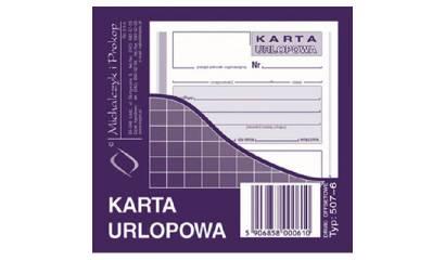 Druk Karta urlopowa 2 / 3 A6 507-6 Michalczyk i Prokop