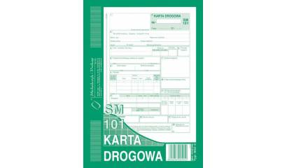 Druk Karta drogowa-samochód osobowy SM/101 A5 (numerowana) 802-3N Michalczyk i Prokop