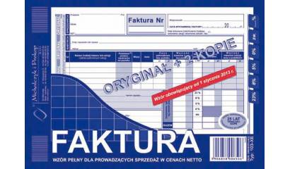 Druk Faktura VATpełna netto A5 (org.+2kopie) 103-XE Michalczyk i Prokop