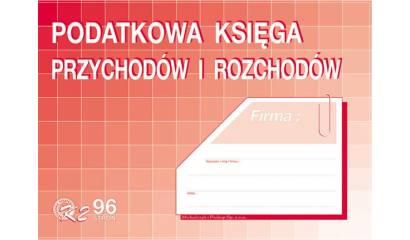 Druk Podatkowa ksiega przychodów i rozchodów A4 K-2 96 kart. Michalczyk i Prokop