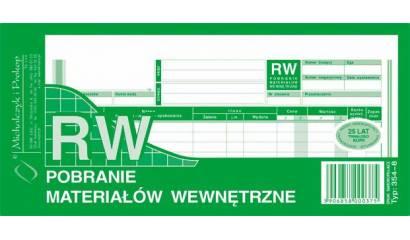 Druk RW Pobranie materiałów wewnętrzne 1/3 A4 wielokopia 354-8 Michalczyk i Prokop