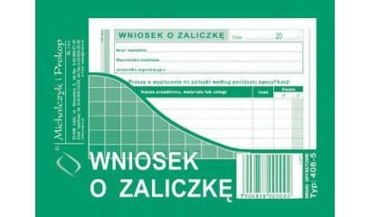 Druk Wniosek o zaliczkę A6 408-5 Michalczyk i Prokop