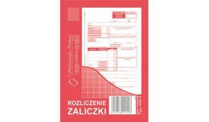 Druk Rozliczenie Zaliczki A6 409-5 Michalczyk i Prokop