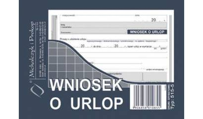 Druk Wniosek o urlop A6 515-5 Michalczyk i Prokop