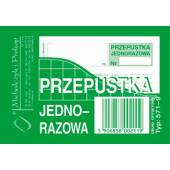 Druk Przepustka jednorazowa A7 571-9 Michalczyk i Prokop