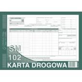 Druk Karta drogowa-samochód cieżarowy SM / 102 A4 (numerowana) 801-1N Michalczyk i Prokop