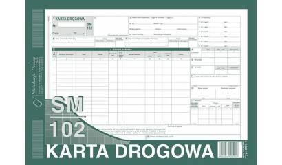 Druk Karta drogowa-samochód cieżarowy SM/102 A4 (numerowana) 801-1N Michalczyk i Prokop