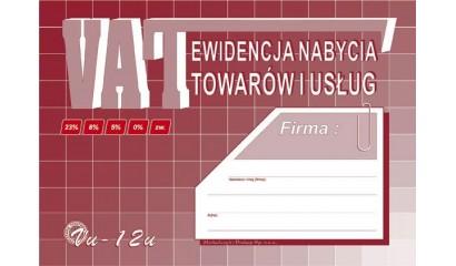 Druk Ewidencja VAT nabycia towarów i usług A5 VU12 Michalczyk i Prokop