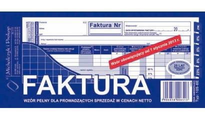 Druk Faktura VATpełna netto 1/3 A4 (org.+kopia) 105-8E Michalczyk i Prokop