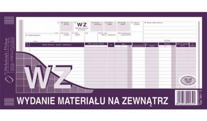 Druk WZ wydanie materiału na zewnątrz 1/3 A3 wielokopia 361-2 Michalczyk i Prokop