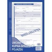Druk Umowa kupna-sprzedaży pojazdu A4 (wielokopia) 650-1 Michalczyk i Prokop