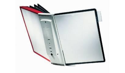 Zestaw 10 paneli prezentacyjnych na ścianę DURABLE Sherpa (panele czerwone i czarne) 5631-00