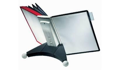 Zestaw 10 paneli prezentacyjnych na biurko DURABLE Sherpa (panele czerwone i czarne) 5632-00