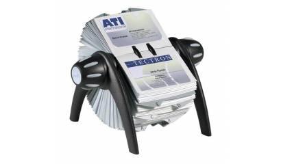Wizytownik obrotowy DURABLE Visifix Flip na 400 wizytówek czarny 2417-01