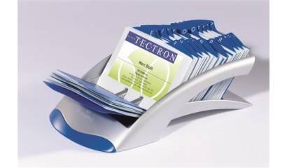 Wizytownik rzędowy DURABLE Visifix Desk na 200 wizytówek srebrny 2413-23