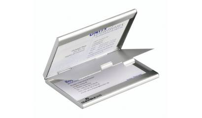 Etuii na wizytówki DURABLE CARD BOX DUO srebrne 2433-23