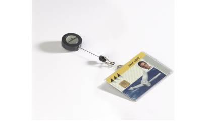 Identyfikator do kart DURABLE 54x85 z zawieszką ściągającą 801619