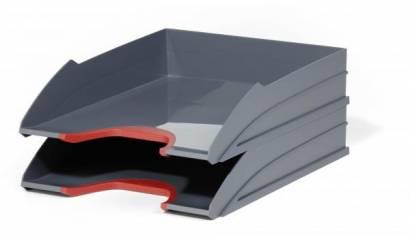 Zestaw 2 tacek na dokumenty DURABLE Varicolor czerwony 770203