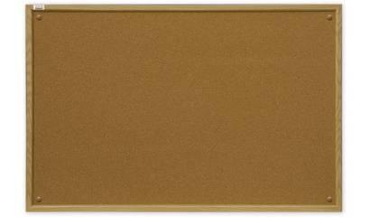 Tablica korkowa 2x3 rama drewno MDF 90x120cm TC129
