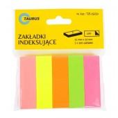 Zakładki indeksujace TAURUS  5 kolorów  (5x100szt.) 15 / 50 TZI-15 / 50