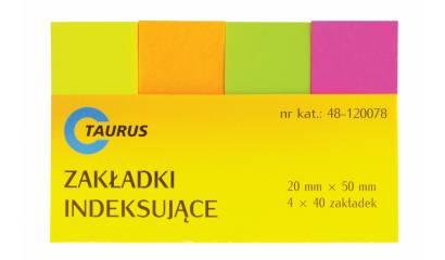 Zakładki indeksujące TAURUS 20/50mm 4kol.x40szt.48-120078