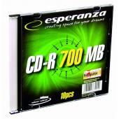 Płyta CD-R ESPERANZA 700MB Slim (1szt)