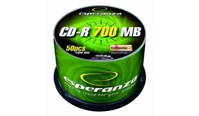 Płyta CD-R ESPERANZA 700MB Cake (50szt)