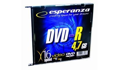 Płyta DVD-R ESPERANZA 4,7GB Slim (1szt)