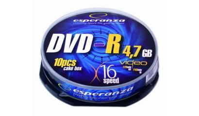 Płyta DVD-R ESPERANZA 4,7GB Cake (10szt)