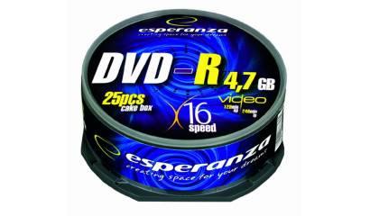 Płyta DVD-R ESPERANZA 4,7GB Cake (25szt)