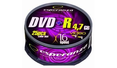 Płyta DVD+R ESPERANZA 4,7GB Cake (25szt)