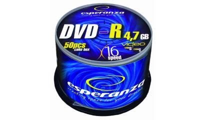 Płyta DVD-R ESPERANZA 4,7GB Cake (50szt)