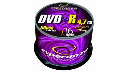 Płyta DVD+R ESPERANZA 4,7GB Cake (50szt)