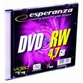 Płyta DVD+RW ESPERANZA  4,7GB Slim (1szt)