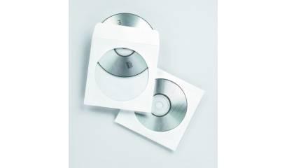 Koperta ESPERANZA na CD/DVD z okienkiem biała (100szt)