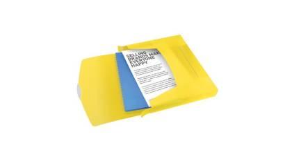 Teczka z gumką ESSELTE VIVIDA A4/40mm żółta 624052