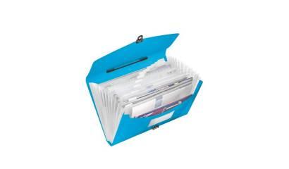 Teczka z przegródkami i rączką ESSELTE VIVIDA A4 niebieska 624022