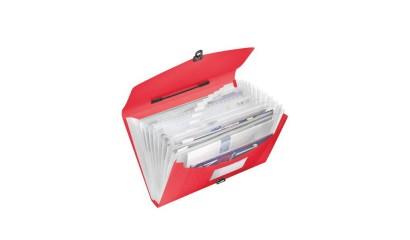 Teczka z przegródkami i rączką ESSELTE VIVIDA A4 czerwony 624023
