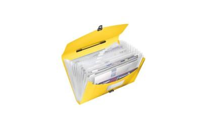 Teczka z przegródkami i rączką ESSELTE VIVIDA A4 żółta 624027