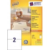 Etykiety samoprzylepne ZF Avery 210x148 (100ark.) 3655