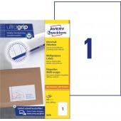 Trwałe etykiety uniwersalne Avery Zweckform; A4, 100 ark./op., 210 x 297 mm, białe