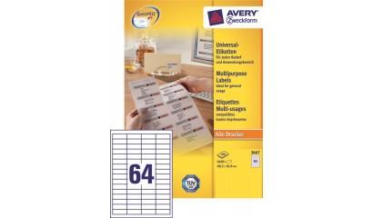 Etykiety samop. ZF Avery 48,5x16.9 (100ark.) 3667
