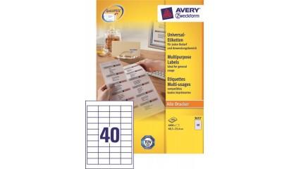 Etykiety samop. ZF Avery 48.5x25.4 (100ark.) 3657